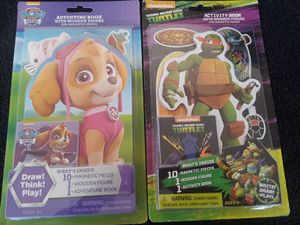 2 New Activity Books with Wooden Figures and Magnets for Sale in El Cajon, CA