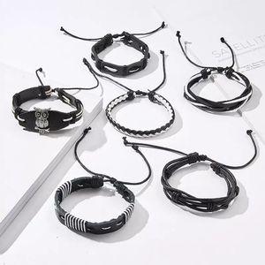 Unisex 🤩Leather Bracelet 🤩 Multi Straps - 6 separate Bracelets for Sale in Dallas, TX