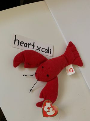 RARE 1993 Pinchers Lobster, Ty Beanie Baby, 1st Generation Tush Tag for Sale in Sacramento, CA