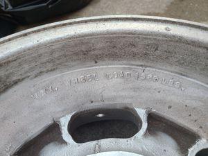 Jeep – CJ AMC OEM/factory Aluminum Slot Wheels Rims (x5 rims) (Size: 15X8.5 bolt circle: 5 x 5.50 in.)  Original to Renegade models for Sale in League City, TX