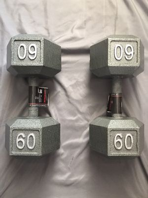60 lb. Hex Dumbbells for Sale in CORNWALL Borough, PA