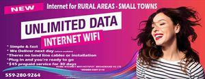 Wifi internet hotspot modem includes 30days unlimited data for Sale in Visalia, CA