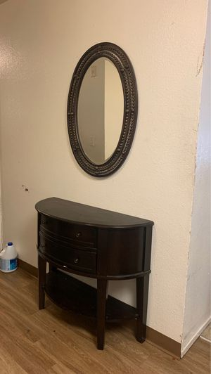 Mirror and hallway dresser for sale for Sale in San Jose, CA
