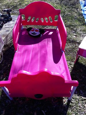 Minney mouse bed with mattress for Sale in San Antonio, TX