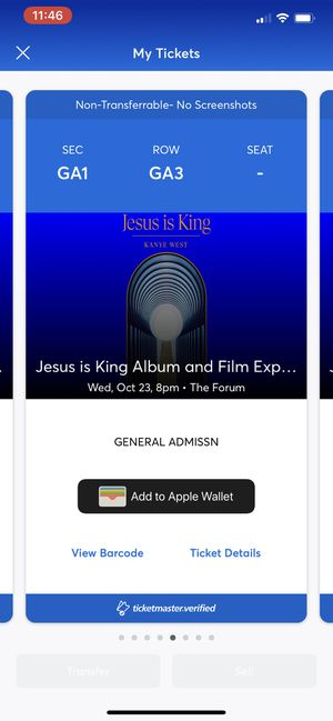 8x Kanye West Jesus is King Tickets GA for Sale in Inglewood, CA