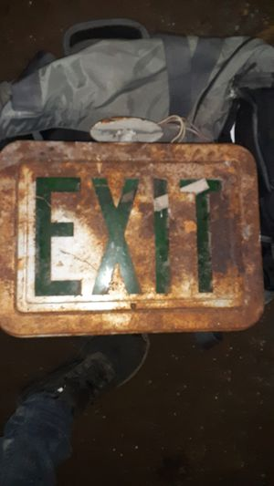 Antique exit sign for Sale in Tacoma, WA