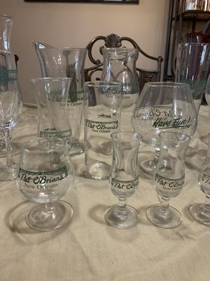 Vintage Pat O'Briens glasses, cups, collection, 19 total for Sale in Seattle, WA
