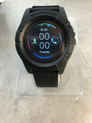 Brand new sports smartwatch camera unlocked touchscreen sports works with android or iphone or any sim card calls sms whatsapp music for Sale in Davie, FL