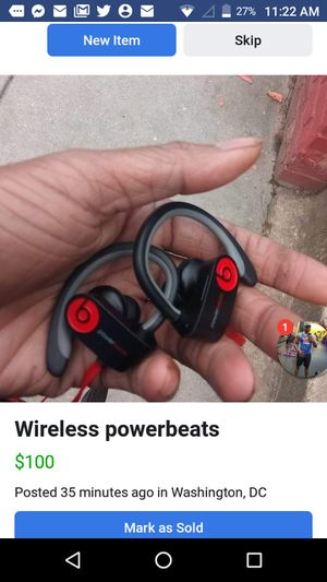 Wireless powerbeats for Sale in Washington, DC