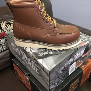 Work Boots 🥾// Iron Age IA5060 - Men's - Reinforcer - Steel Toe - Tan // Size (7.5)(8.5)(9)(9.5)10.5) for Sale in Niles, IL