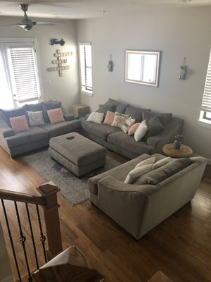 Sofa Set with ottoman for Sale in Houston, TX