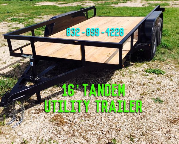 TRAILERS FOR SALE 💰 16' Utility Trailer
