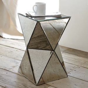 West Elm Mirror Faceted Side Table for Sale in New York, NY