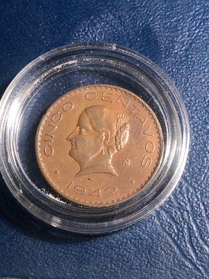 5 centavos 1942 Josefa key date for Sale in Redwood City, CA