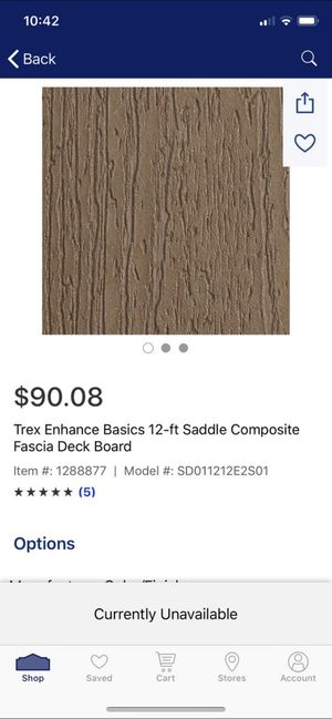 Trex 12 ft saddle fascia deck boards for Sale in Federal Way, WA