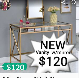 Vanity with Mirror in Champagne for Sale in Hacienda Heights, CA