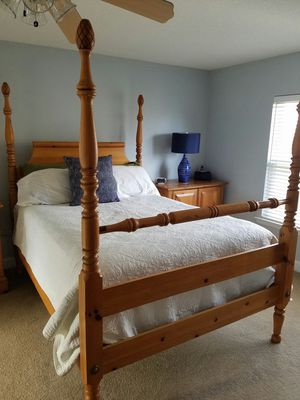 Queen bed frame includes headboard and footboard for Sale in Fort Mill, SC