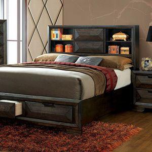 Nikomedes CM7557 Bedroom in Espresso w/Bookcase Headboard for Sale in Fresno, CA