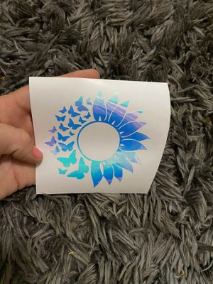 Flower decal for Sale in Lynchburg, VA