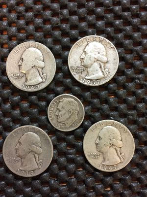 5- silver coins 90% for Sale for sale  Beloit, WI