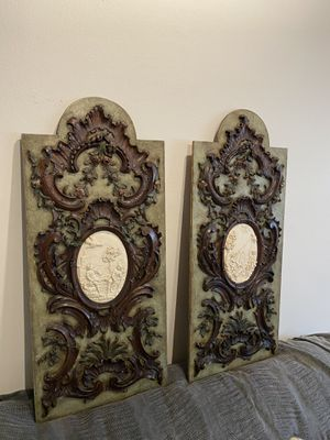 18th Century French Rococo Door Panels for Sale in CORONA DL MAR, CA