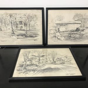 Vintage Jas F Murray Drawing Lot (3) for Sale in Middletown, CT