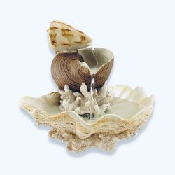 Seashells and Coral Water Fountain Boerpine Polystone Sculpted for Sale in Delray Beach,  FL