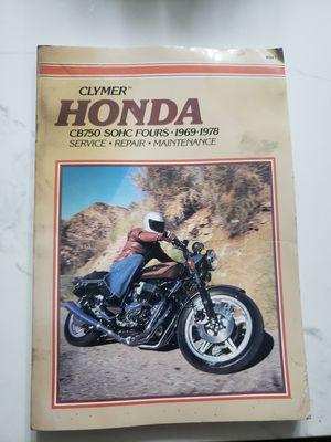 Honda cb750 manual for Sale in Pomona, CA
