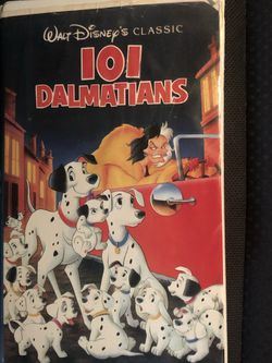 Disney Vintage 101 Dalmatians Black Diamond Vhs Collectible for Sale in Los Angeles,  CA