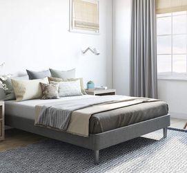 Upholstered Platform Bed   Grey, King for Sale in Cleveland,  OH