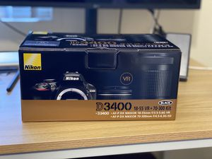 Nikon D3400 2 Lenses Bundle with Carrying Bag for Sale in South San Francisco, CA