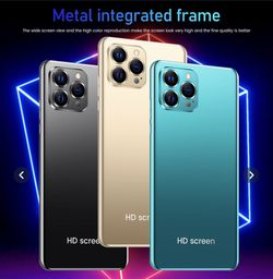 2020 New 6,5 Inches Full Screeny i 12 Pro Max Smartphone 12GB+512GB Face Unlocked 4G 5G Dual SIM Cards Support T Card Dual Rear 24MP +48MP HD Camera B for Sale in San Diego,  CA