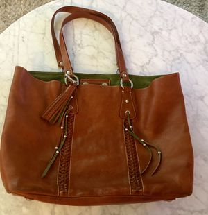 Cavalcanti Italian Leather Extra Large Tassel Tote for Sale in Lynnfield, MA