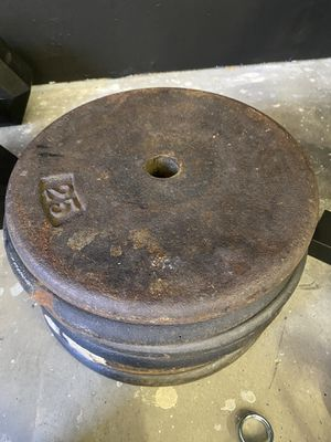 (Gym 2nd shut down) standard 25lb plates (6) $3lb for Sale in Clovis, CA