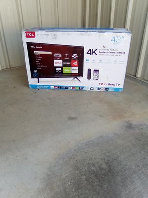 "-43"" In. TCL 4k Roku Smart TV W/Remote- for Sale in Atlanta, GA"