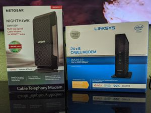 Linksys cable internet modem CM3024 high speed gigabit computer network gaming modem (not wifi router) for Sale in Gig Harbor, WA