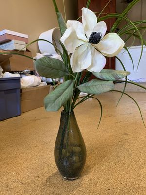 Fake Plant with Glass Vase for Sale in Costa Mesa, CA
