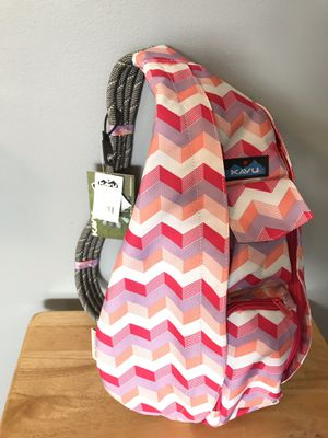 Kavu Rope Sling Sport/Travel Canvas Bag/Backpack Sunset Chevron NWT for Sale in Arlington, VA