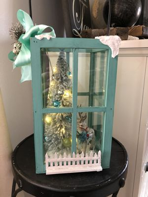 Teal blue lantern holiday for Sale in Chicago, IL