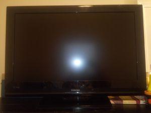 40 inch Toshiba tv and Blue ottoman for Sale in Dallas, GA