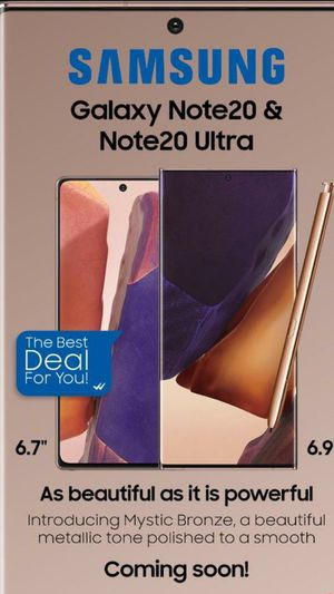 Samsung Galaxy Note 20 and Note 20 Ultra on Pre Order available for Sale in The Bronx, NY