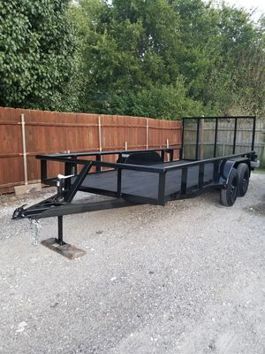 TRAILER 16X76 WITH BRAKES AND TAILGATE 2019 TRAILA for Sale in Dallas, TX