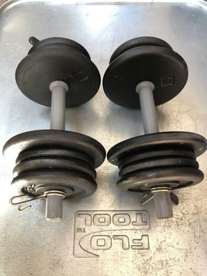 Adjustable Dumbbell Set- (30 lbs x 30 lbs) Pair 60 lbs for Sale in San Jose, CA