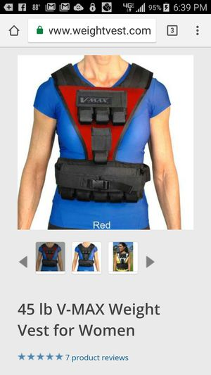 V-Max weighted vest for Sale in Brandon, MS