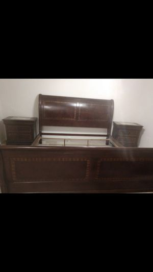 King size bed frame and night stands for Sale in Alexandria, VA