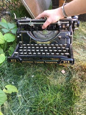 Underwood 1915 typewriter for Sale in Bingham Canyon, UT