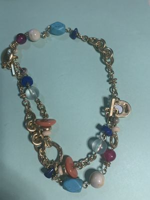 Mixed bead gold metal bracelet for Sale in Fresno, CA