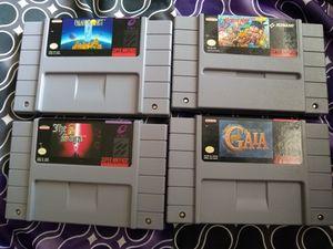 Super Nintendo games SNES for Sale in Seattle, WA