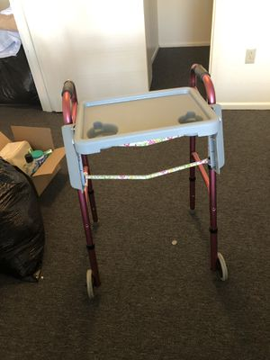 Pink Floral front wheel-walker with detachable tray for Sale in Payson, AZ