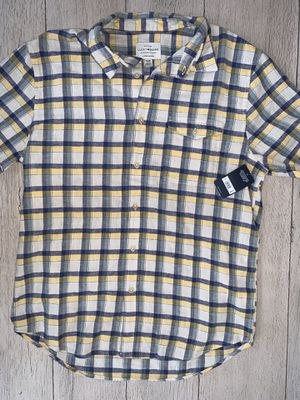 Brand new Men's Lucky shirt size M, Linen material. Original price is $65 with tax, I'm selling it for $40 (yellow) OBO for Sale in Castro Valley, CA